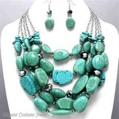 CHUNKY TURQUOISE NECKLACE ...