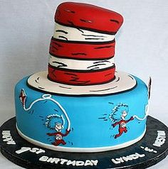 thing one and thing two birthday cake - Google Search