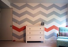 I am so in love with this chevron wall.
