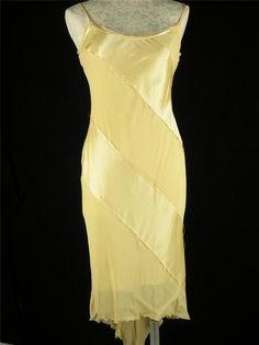 Arden B Yellow Spaghetti Strap Formal Gown Prom Dress M 6 8 Wedding | eBay