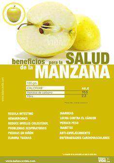 Beneficios manzana #salud #adelgazar #alimentos #comerbien #vidasana