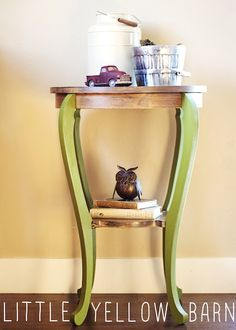 Two-Toned Unique Side Table