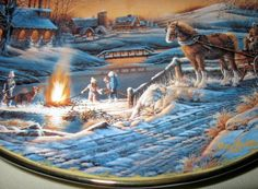 terry redlin | Terry Redlin Seasons To Remember January Sharing Evening Calendar ...