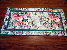 Quilted Table Runner by PatchworkByPaula on Etsy, $40.00