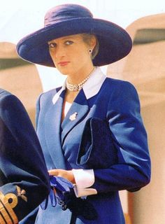 Princess Diana  She was a Hollywood starlet in her big hats!