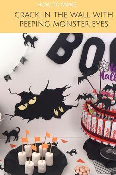 Come fare dei Mostriciattoli che spiano dal buio! - Caseperlatesta Halloween Magic, Halloween Home Decor, Easy Halloween Costumes, Halloween House, Diy Costumes, Halloween Crafts, Halloween Decorations, Halloween Party, Finger Food Appetizers