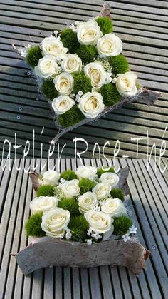 Atelier Rose-Thé - art floral Mousse, fleurs piquées, écorce de bouleau