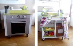 Cómo convertir un mueble en una cocinita de juguete