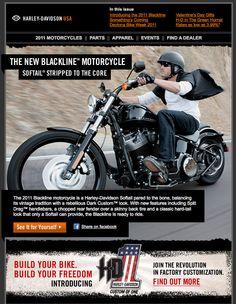 Harley davidson email template