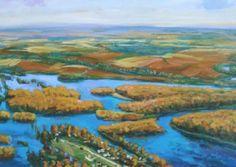 Henri Linton - Arkansas Delta #50 (2009) oil on canvas, 36 x 60 inches  #HenriLinton #artist #art #painting #arkansas #delta #ar #river #landscape #oil #canvas #thenaturalstate #gregthompsonfineart