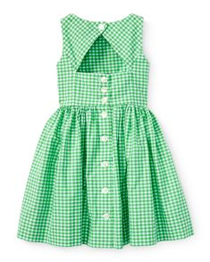 Little Girls' Dresses & Rompers in Sizes Little Girl Dresses, Girls Dresses, Summer Dresses, Baby Girl Fashion, Kids Fashion, Kids Dress Patterns, Baby Frocks Designs, Frock Design, Gingham Dress