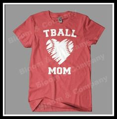 TBall Mom Heart Ball T-Shirt Women Ladies Cut S M L XL