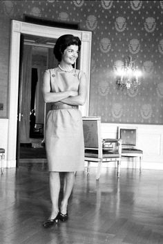 Did you know that her sense of style got her into trouble? Jacqueline Kennedy Onassis, Dresses For Work, In This Moment, Celebrities, Icons, Style, Image, Fashion, Moda