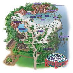 River Country Map when the watedpark was atill in operation via themeparktourist.com