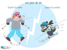 Skiing with the kids - Parenting humour Parenting Courses, Parenting Plan, Parenting Quotes, Alpe D Huez, Kids Skis, Gifted Kids, Humor Grafico, Snow Skiing, Hilarious