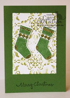 =A Crafty Cat; Stampin' Up! Christmas with stockings