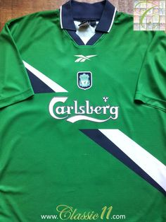 e0b337a40 Liverpool 1999 00 Away Classic Football Shirt   Vintage Soccer Jersey