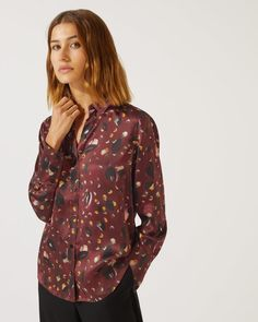 fdf68ab3d Harvest Fields Print Silk Shirt | Jigsaw