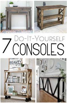 7 DIY Consoles - Handmade Haven