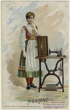 Norway | Singer Sewing Machine | Image ID 827478 | NY Public Library Digital Catalogue