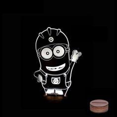 Barato ( Minions ) crianças sala de arte luzes escultura produz único efeitos de iluminação e visualização 3d   incrível Optical Illusion, Compro Qualidade Candeeiros de mesa diretamente de fornecedores da China:  3D Deco lâmpada de iluminação     Quando vi pela primeira vez o bulbing luz que não poderia acreditamos que nosso
