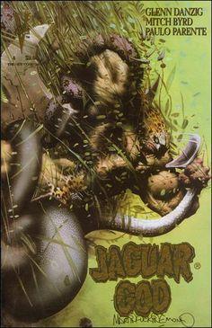 Jaguar God # 4 by Glenn Danzig And Mitch Bird (RIP).badass cover art by the late Mitch Bird. Flawless art and story. Comic Book Covers, Comic Books Art, Book Art, Danzig Misfits, Glenn Danzig, Conan The Barbarian, Samhain, Comic Artist, Comic Character