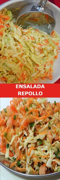 ENSALADA DE REPOLLO CON ZANAHORIA Y PEPINO #ensalada #repollo #zanahoria #pepino #mostaza #pimienta #cremadeleche #limón #receta #recipe #casero #torta #tartas #pastel #nestlecocina #bizcocho #bizcochuelo #tasty #cocina #cheesecake #helados #gelatina #gelato #flan #budin #pudin #flanes #pan #masa #panfrances #panes #panettone #pantone #panetone #navidad #chocolate Si te gusta dinos HOLA y dale a Me Gusta MIREN. Veggie Recipes, Mexican Food Recipes, Salad Recipes, Healthy Recipes, Avocado Pasta, Good Food, Yummy Food, Colombian Food, Appetizer Salads