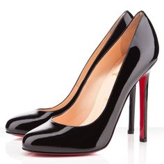 Christian Louboutin Lady Lynch Pumps Patent Leather 120mm Black