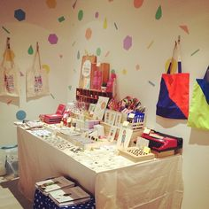 Our booth at The Christmas Pop Up store, 15 December 2012, at the 3rd space! We had a blast, and definitely the presence of joy was felt  :)