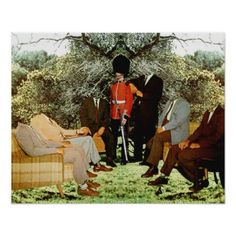 Meeting in the Garden Poster - decor gifts diy home & living cyo giftidea