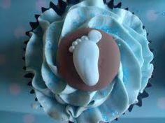 baby boy cup cakes....love this idea for the baby shower.... Chocolate cupcakes