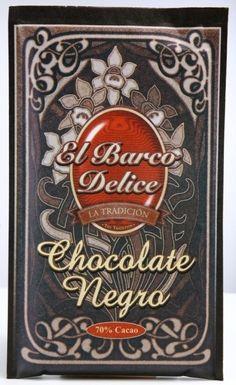 Chocolate negro, a base de cacao al 70% y azúcar. De sabor intenso, muy aromático y suave. Elaborado en el Barco de Ávila.