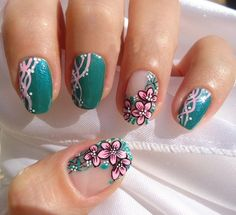 Nail art designs and ideas for different types of nails like, long nails, short nails, and medium nails. Check out more all Nail art designs here. Long Acrylic Nails, Acrylic Nail Art, Acrylic Nail Designs, Acrylic Tips, Simple Nail Art Designs, Easy Nail Art, Cool Nail Art, Galeries D'art D'ongles, Floral Nail Art