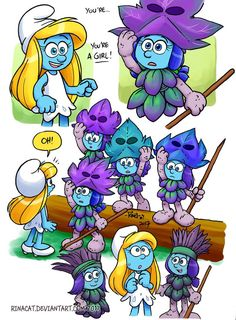 Smurfs: Stormfette Ice skating by rinacat on DeviantArt Smurfette, Cartoon Characters, Fictional Characters, Equestria Girls, Ice Skating, Dragon Ball, Sonic The Hedgehog, Skate, Anime