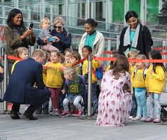 Children from a nursery school were delighted to get the opportunity to chat to the royals...