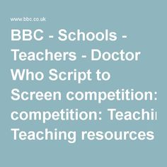 BBC - Schools - Teachers - Doctor Who Script to Screen competition: Teaching resources and introduction