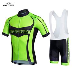 2017 Fastcute pro team cycling jersey bike shorts set men summer ciclismo Cycling clothing kit MTB Bicycling Maillot Culotte FS8