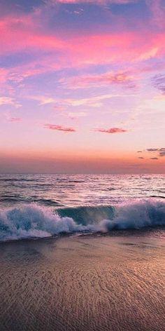 Wild adventure pink sunset beach day com 888 Pretty Sky, Beautiful Sky, Beautiful Landscapes, Sunset Pictures, Beach Photos, Nature Pictures, Pink Sunset, Sunset Beach, Beach Sunsets