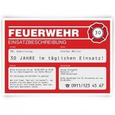 Einladungskarten   Feuerwehr