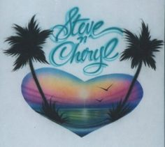 Airbrushed shirts from Florida---you know you all had these!!