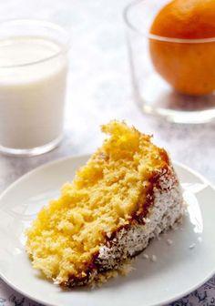 Pão de ló de laranja e côco