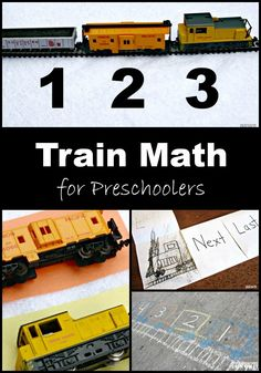 Preschool Math Activities with Trains