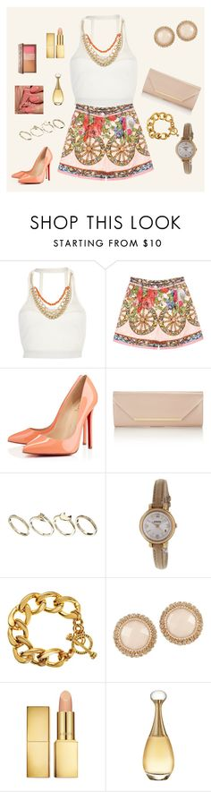 """""""All cream and gold"""" by rafakeka on Polyvore featuring moda, Pacha, Dolce&Gabbana, Christian Louboutin, Monsoon, ASOS, FOSSIL, Juicy Couture, ALDO e Urban Decay"""