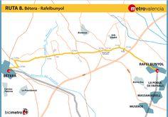 Metrovalencia - Bicimetro - Bétera - Rafelbunyol