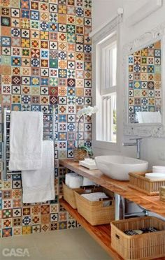 MultiColoured Azulejos to decorate your Bathroom - OpenDeco.es
