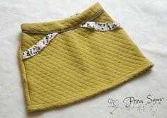 Jupe MINI-PERLE, version B sans volant, patron de couture Ivanne.S, by Ptites Sapes