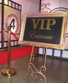 Hollywood Glamour Themed Party Event