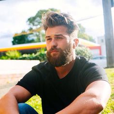 Contented handsome beard.                                                                                                                                                                                 More