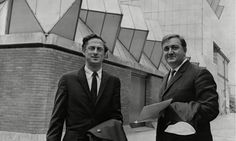 James Gowan, left, with James Stirling.