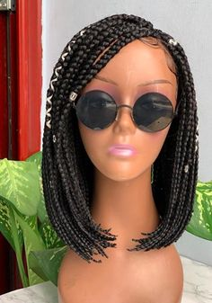 Bob Box Braided wig - Custom Made on single part human hair - Goddess Faux Locs -Braids- Braided wig- Box Braided- Braided lace wigs Box Braid Wig, Braids Wig, Box Braids, Goddess Hairstyles, Braided Hairstyles, You Look Beautiful, Braids For Black Women, Faux Locs, Lace Wigs